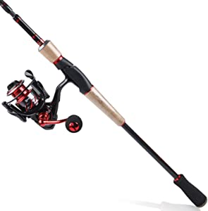 Sougayilang Spinning Fishing Rod Reel Combos,24-Ton Carbon Fiber Protable Fishing Poles with Spinning Reel for Travel Freshwater Fishing