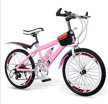 TX Bicicleta De Montaña para Niños Aleación De Magnesio 20 Pulgadas Freno De Disco con Palanca De Cambios Rueda De Radios,Pink: Amazon.es: Deportes y aire libre