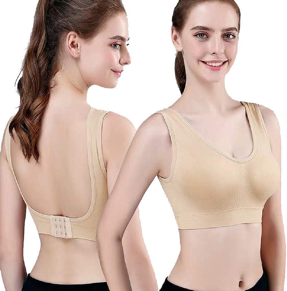 Women Seamless Non Wireless Comfortable Breathable Bra Z9G2