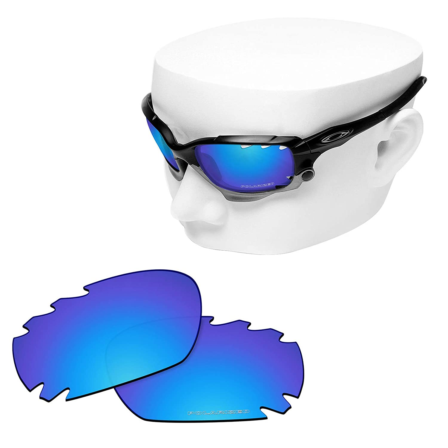 9e58c50b8e1 Amazon.com  OOWLIT 2 Pair Replacement Sunglass Lenses compatible with Oakley  Jawbone Vented POLARIZED  Clothing