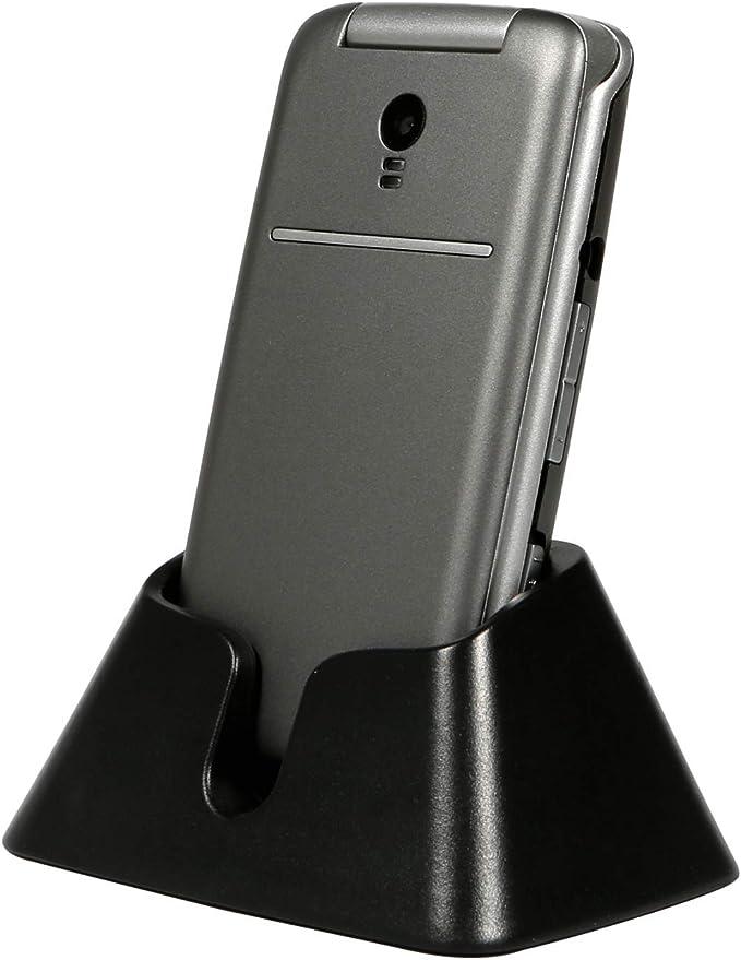 3G Teléfono Móvil para Personas Mayores Teclas Grandespara Mayores con MMS, SOS Botón, Cámara, 2,4 Pulgadas, con una Base de Carga, Fácil de Usar para ...