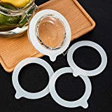 15 Pieces Silicone Jar Gaskets Replacement Silicone