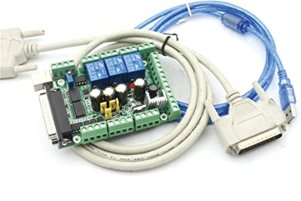 Cables Upgraded 5 Axis Cnc Breakout Board For Microstep Controller Software