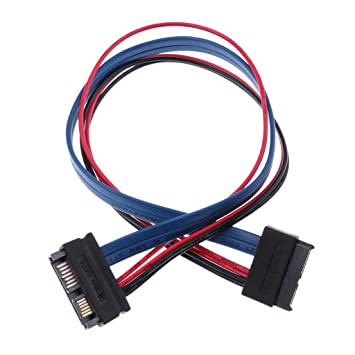 30cm SATA Serial ATA 7+6P Male to Female Drive Data Cable Extension