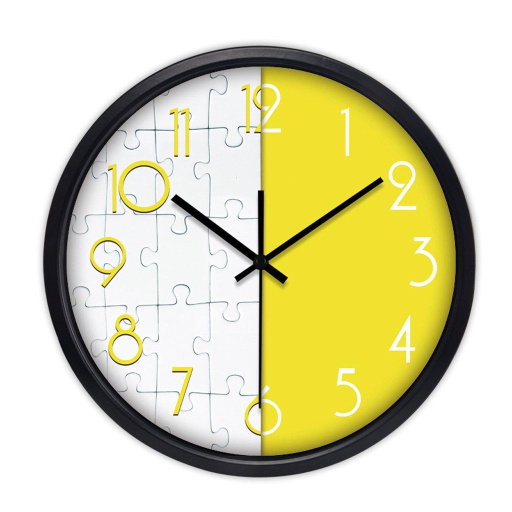 現代トレンドパーソナリティメタルウォールチャートリビングルームのベッドルームの装飾のアイデアシンプルな大きなミュートの壁時計 (色 : ブラック, サイズ さいず : 30センチメートル) B07CYR3QDM 30センチメートル|ブラック ブラック 30センチメートル