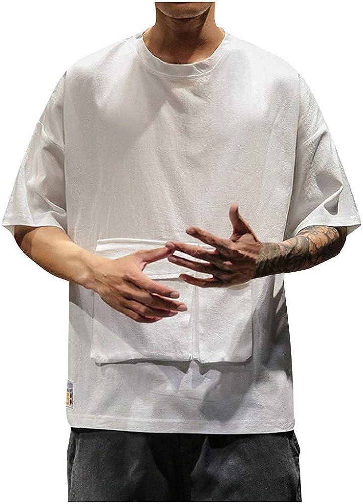 SUDADY Camisetas para Hombre, Casual Suelto Hombre Verano Corta ...