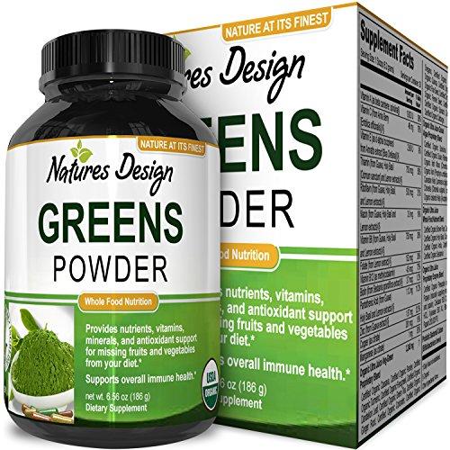 Superfood Greens Powder – Healthy Organic Blend – Energy