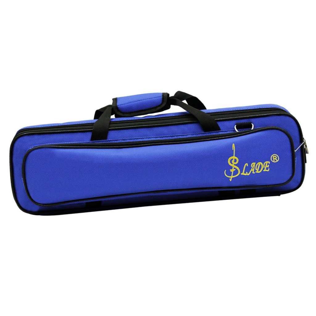 Dovewill Flute Case Cover Carrying Bag w/ Shoulder Strap for Beginners Professionals Deep Blue