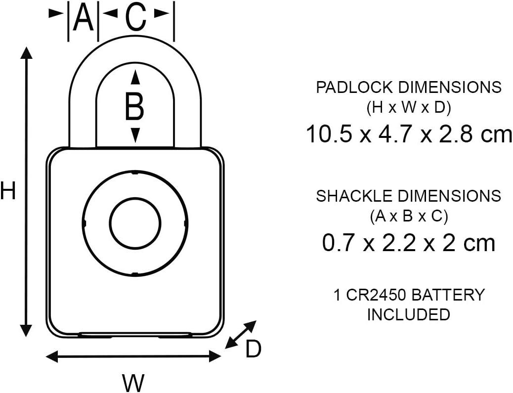 Master Lock 4400EURENT Bluetooth Vorh/ängeschloss f/ür Unternehmen und Industrie Innenbereiche Bluetooth kompatibel mit Smartphone