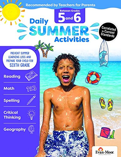 Evan-Moor Daily Summer Activities, Between 5th Grade and 6th Grade Activity Book; Summer Bridge Activities for ()