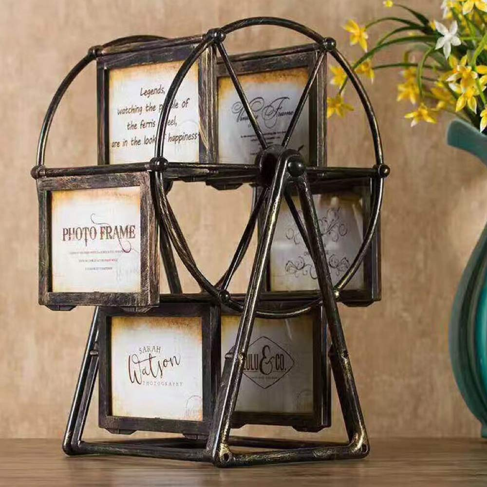 Picture Frame Creative Rotatable Home Decoration Gift Vintage Nostalgic Style Windmill Ferris Wheel by Walmeck