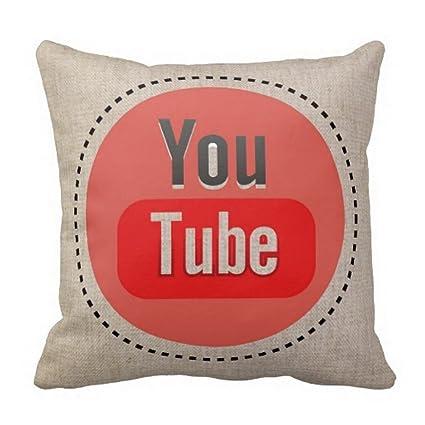 Coche Sofá Creativo You Tubo Patrón almohada personalizada ...