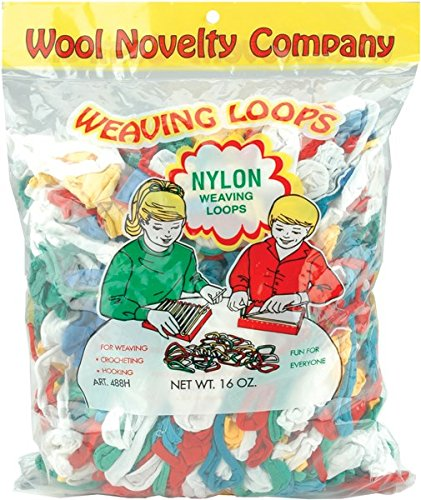 Wool Novelty 488 Weaving Loops, Multi, 16 oz. Size, 14'' Height, 4.8'' Width, 10.12'' Length, Nylon
