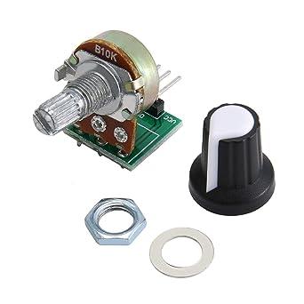 Embellecedor Boton Verde Potenciometro B10K Lineal 10k para Arduino Knob 16mm