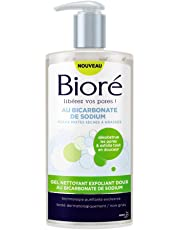 BIORÉ Gel Nettoyant Exfoliant Doux au Bicarbonate de Sodium 200 ml - Lot de 2
