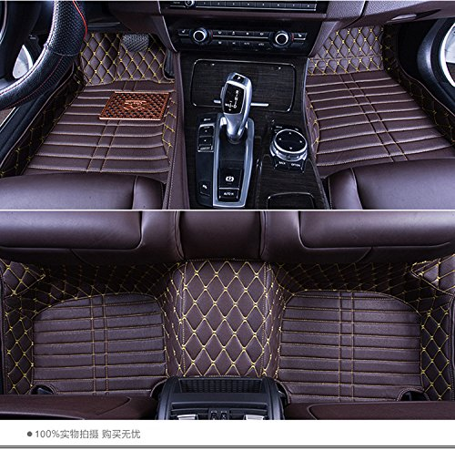 Okutech Custom Fit Luxury XPE Leather Waterproof Floor Mat for the Third (3rd Row Leather)