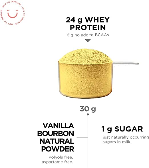 Muv Food For Action Whey Protein Vainilla Flavour 1000 g