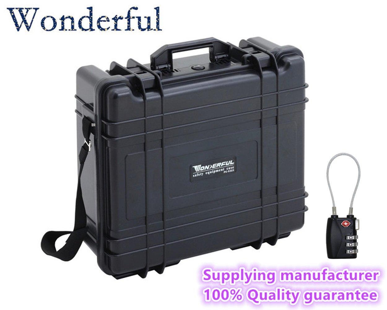 Wonderful pc-5323 Watertight Cases使用ABS素材、高強度と影響抵抗、絶対密封防水、防塵for yourカメラと機器Escort ブラック/ ArmyGreen    B01ELKYSO8