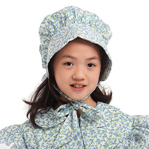 GRACEART Girl's 100% Cotton Pioneer Prairie Bonnets (8 colors option) B