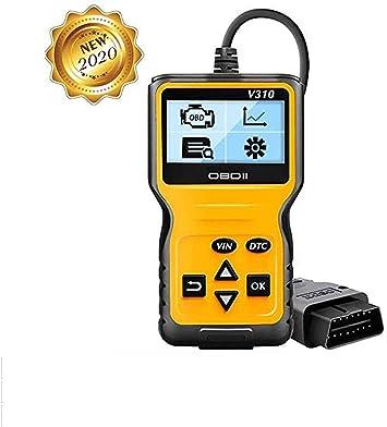 careslong OBD2 Herramienta de diagnóstico Lector automático de códigos V310-Escáner automático Puede Leer y borrar el código de transmisión ...