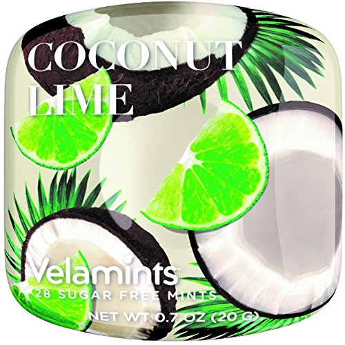 Velamints Expressions Mint Tin, Coconut Lime, Sugar Free Mints, Truvia Sweetened, 20