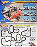 Tyco Mattel Hot Wheels Formula World Tour Slot Car Racing Set W/ 2 Cars TYC95715