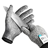 PROORAL Cut Resistant Gloves Kitchen Supplies Cut Resistant with Level 5 Security Protection Safety Gloves for Cutting ,Clipping Protect Your Hands Today.
