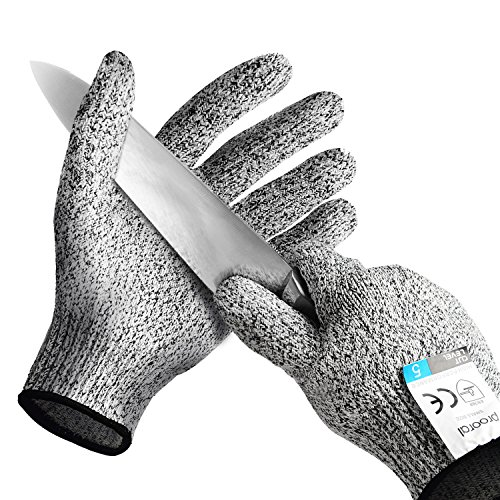 PROORAL Cut Resistant Gloves Kitchen Supplies Cut Resistant with Level 5 Security Protection Safety Gloves for...
