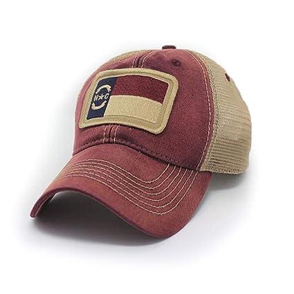c048129fdb9 Amazon.com   North Carolina Flag Patch Trucker Hat