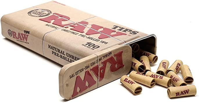 RAW Rolling  Filter Tips Black XL 6mm x 22mm  120 Per Bag unrefined natural