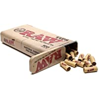 RAW Natural Unrefined Pre-Rolled Tips in Tin - 100 Tips Per Tin