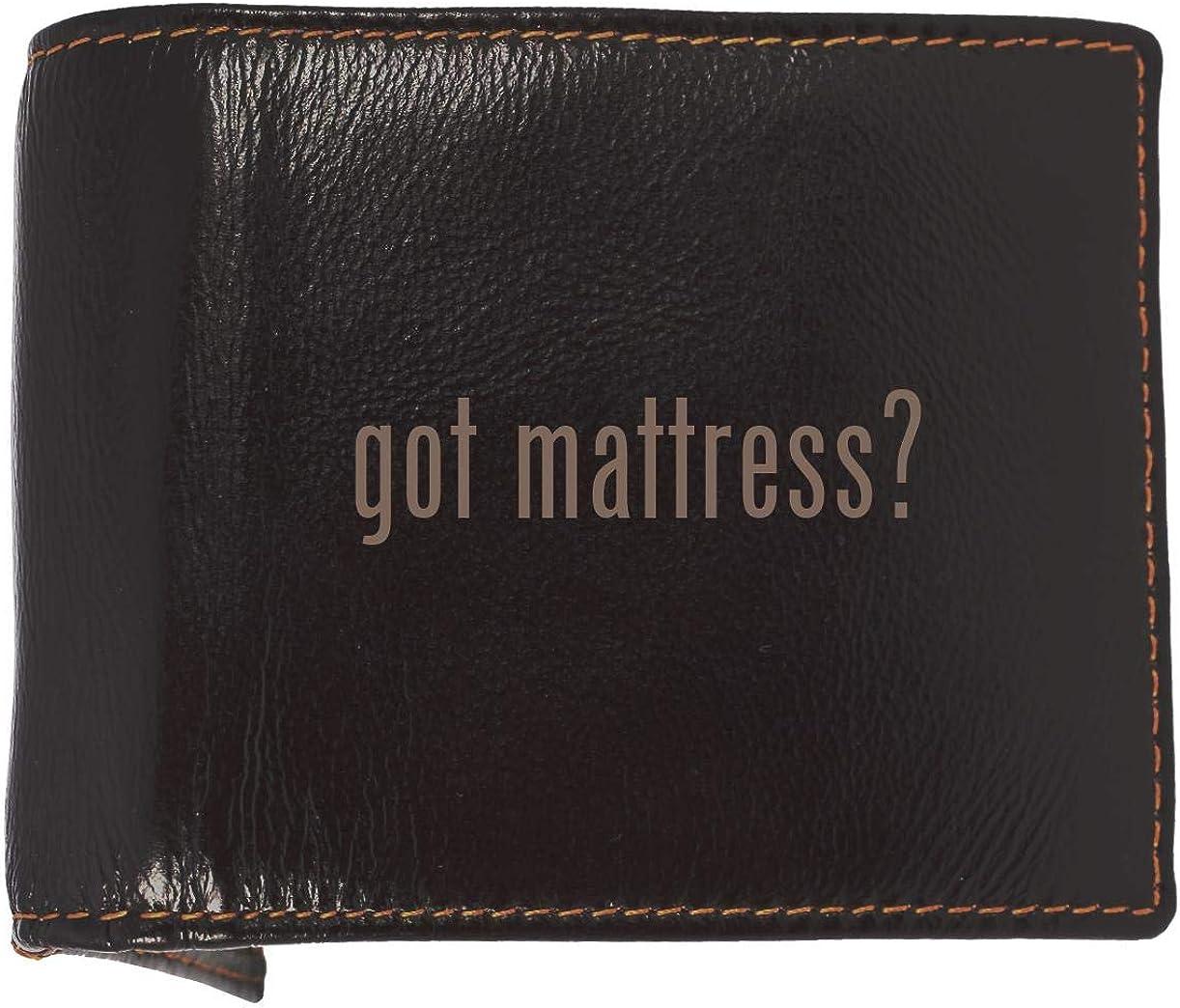 got mattress? - Soft Cowhide Genuine Engraved Bifold Leather Wallet
