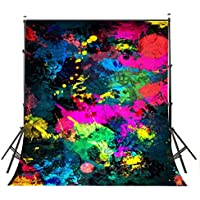 Lyly County Graffiti Painting Backdrop 5x7ft Collapsible Abstract art Studio photography Background Props (Upgrade Material) LY004