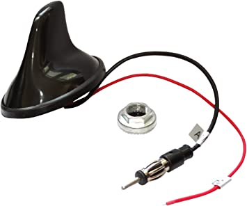 AERZETIX: Antena Am/FM DIN para autoradio Tipo-Tiburon de Coche C11156