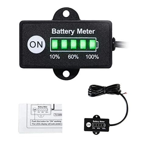 Amazon.com: Mini 12 V 24 V medidor de indicador de batería ...