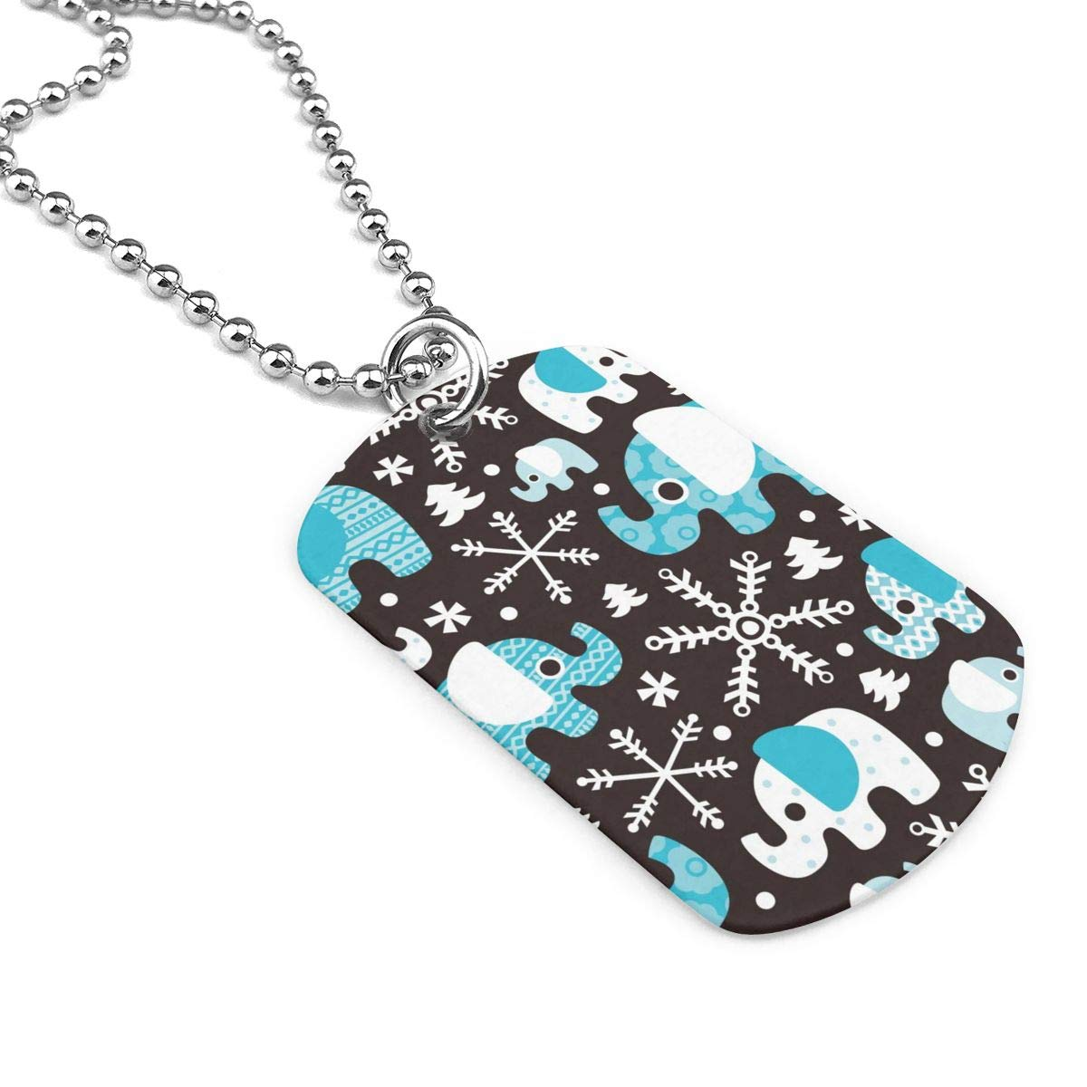 Elephant In Winter Jewelry Military Pendant Brand Necklace Metal Dog Tag