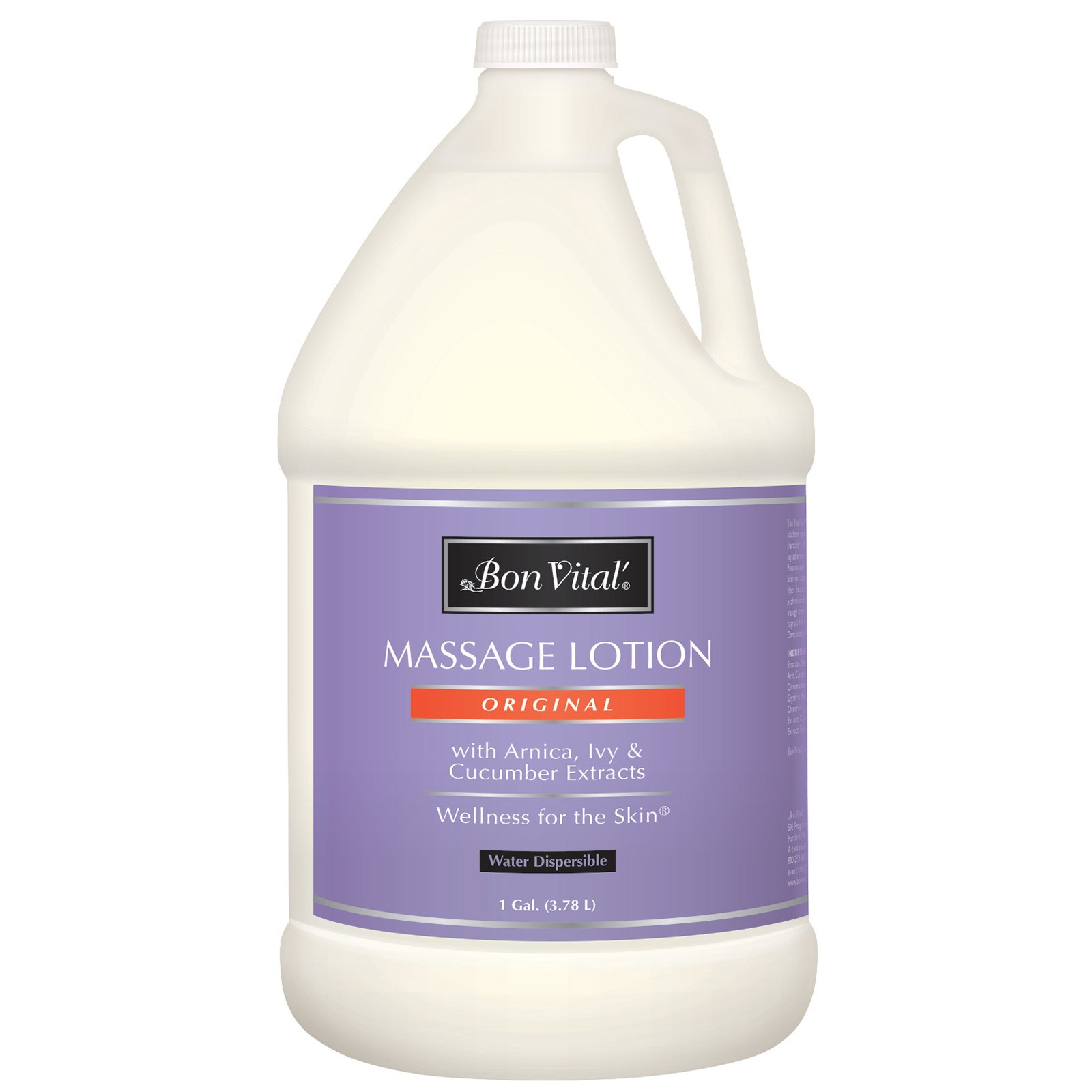 Bon Vital' Original Massage Lotion for a Versatile Massage Foundation to Relax Sore Muscles & Repair Dry Skin, Lightweight, Non-Greasy Formula to Moisturize and Repair Dry Skin, 1 Gallon Bottle by Bon Vital