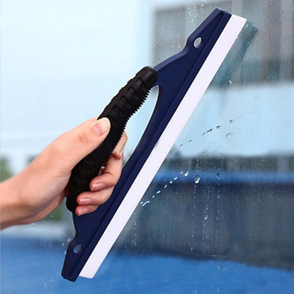 LVH Shower Squeegee Plastic Silicone Soft Car Window Clean Brushes Wiper Squeegee Windshield Vehicle Cleaning Scraper Drying Blade Shower Kit Tools by LVH