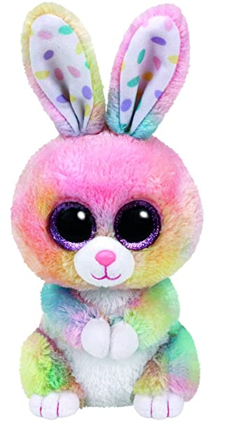 Amazon.com  Ty Beanie Boos Bubby Easter Multicolor Rabbit - 6 in ... 3700ecb0bac6