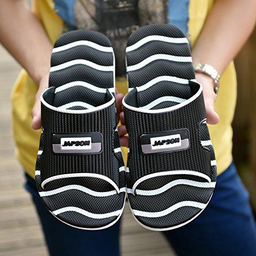 de zapatillas transpirable Sandalias Inicio zapatillas Casual 41 para Flops gran sandalias antideslizante hombres MONAcwe Negro y verano diaria tamaño sandalias Flip hombres pTfqcxZAw