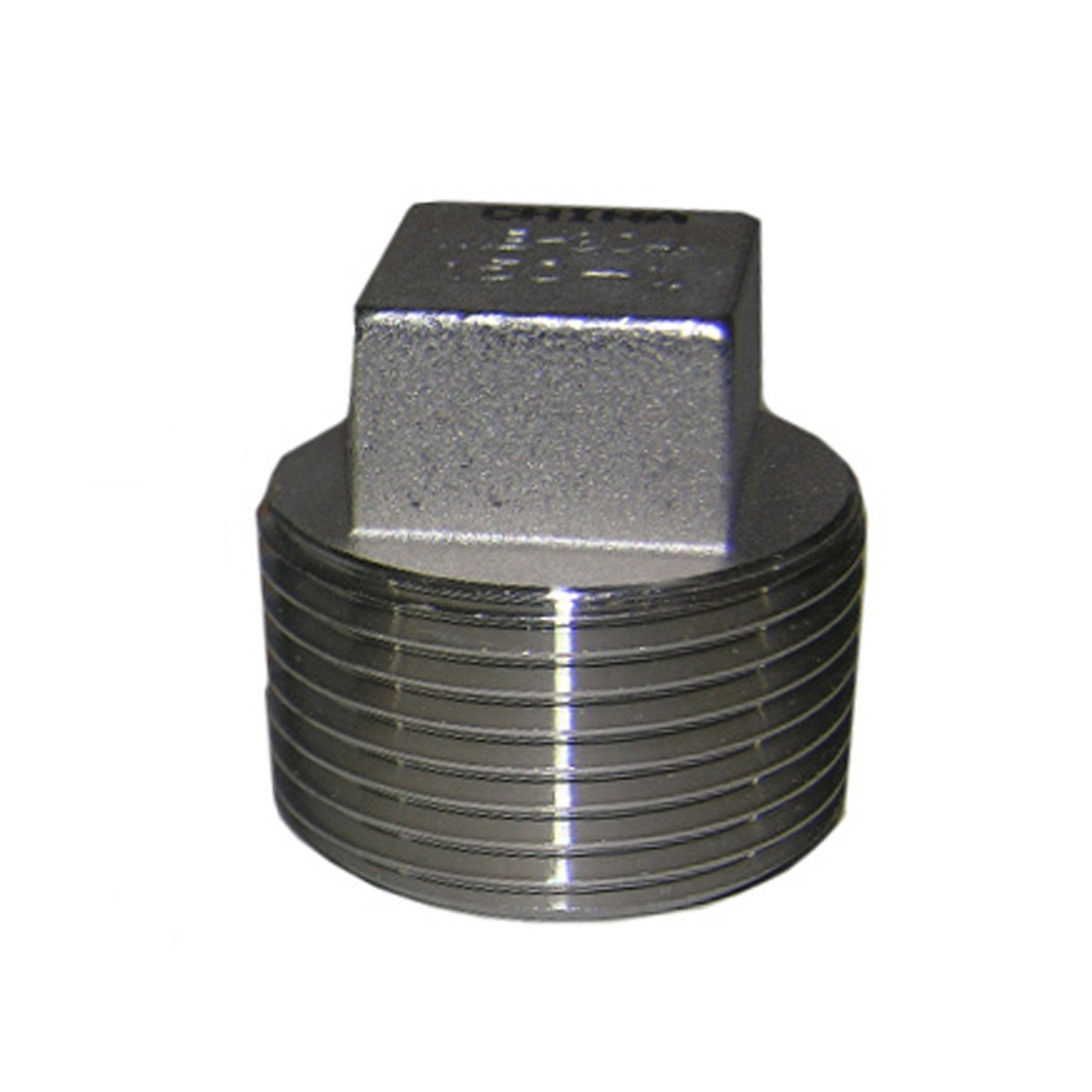 LASCO 32-2989 3//4-Inch Male Pipe Thread Type 304 Stainless Steel Square Head Plug