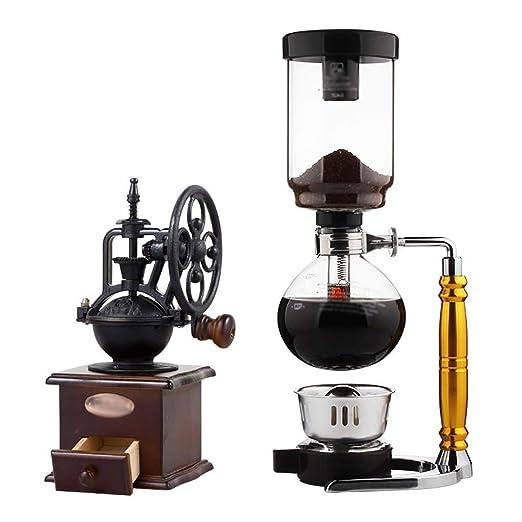 SDKFJ Cafetera Tipo de Rueda de Molino de café Manual, Gruesa ...
