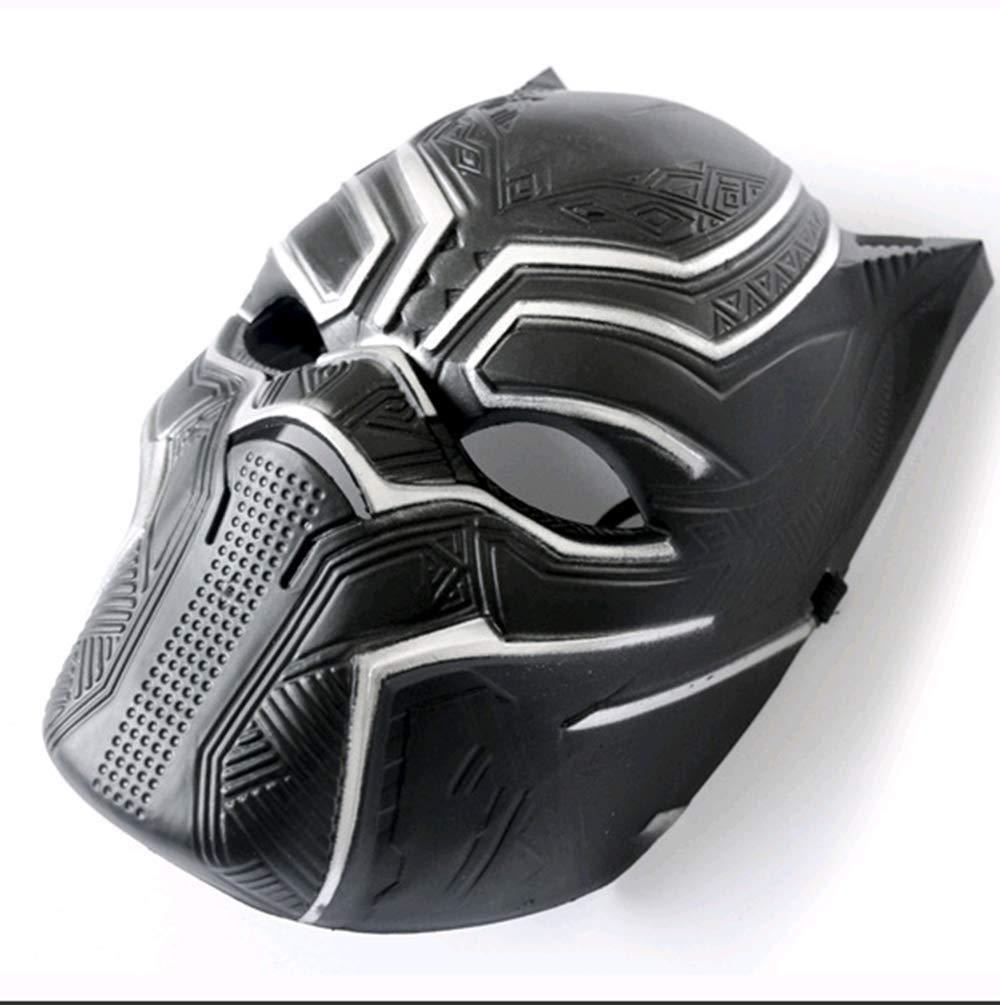 Black Panther Cosplay Máscara Cos PVC Headgear Halloween Cosplay ...
