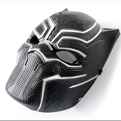 Black Panther Cosplay Máscara Cos PVC Headgear Halloween ...