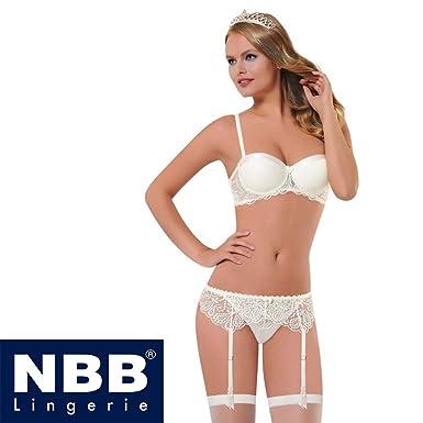 9cc857674 NBB Women Bridal Sexy 4pcs Lingerie Set White 36B at Amazon Women s ...