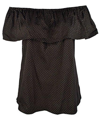 Michael Michael KorsWomen's Plus Size Off-The-Shoulders Flounce Top-B-2X