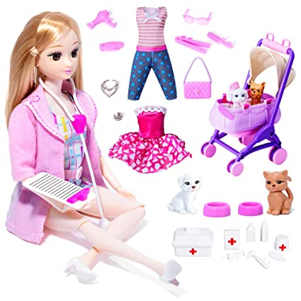 Goolsky Pet Vet Doll y Playset Pet Warm House Grandes ...