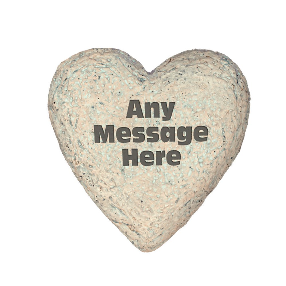 GiftsForYouNow Any Message Heart Shaped Personalized Garden Stone, 8.5''