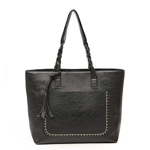 7cfb91f37f87 Amazon.com: Vintage Women Messenger Bags With Tassel Large Capacity ...