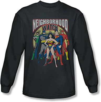 New Justice League Movie JOIN THE LEAGUE Adult Long Sleeve T-Shirt S-3XL